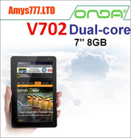 Wholesale Original quot Onda V702 Dual core Android Capacitive Tablet PC GHz GB DDR3 GB