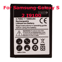 Wholesale 3 V mAh Battery For Samsung Galaxy S2 S II I9100 Lithium Ion Replacement Battery Black US Shipping