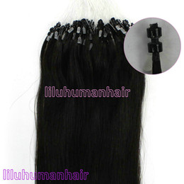 Wholesale 100S pack quot Double Silicone Micro Rings micro beads Human Hair Extensions B natural black