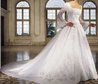 Wholesale New white long sleeve lace wedding dresses any size color can offer