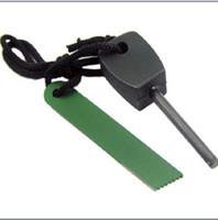 Wholesale Outdoor tool Survival Magnesium Flint Stone Fire Starter Lighter Kit green