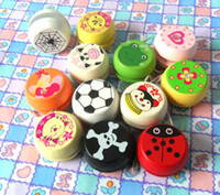 Wholesale Cartoon Animals Wooden Fun YOYO Ball Children Educational Toys Christmas Small Gifts