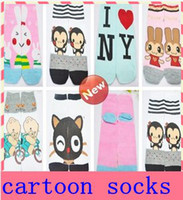 Wholesale Hot Sale Baby Girls Women Socks Children Socks Kids Socks Cartoon Design