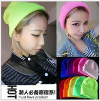 Wholesale Fashion hip Hop Knitted Beanie Acrylic Ski Hat Skull Caps winter warm caps colors