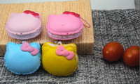 Wholesale 2013 cute kawaii christmas gift PU cat breadou squishy charm macaron buns freeshipping
