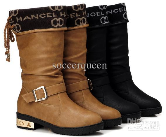 Mic Cheap High Cut Womens Design Winter Boots Warm Snow Boot Shoes ...