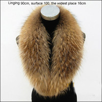 Wholesale Hot Sale Real Raccoon Fur Shawl Fur Collar Women s Neck Warmers Fur Scarf Big Size Fur Scarves