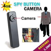 Wholesale New4GB Mini button DV spy Camera Hidden Photo amp Video amp Recorder