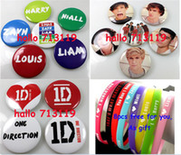 Wholesale 36x ID One direction Pin badges breastpin bracelets styles Mix Party Gift Favor Jewelry