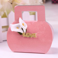 bags candy wrap - Fashion New Candy Bags Lily Handbag Candy Boxes Love Favor Holders Diy Candy Wraps