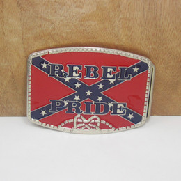 BuckleHome Rebel pride belt buckle confederate belt buckle with silver finish FP-01602-1 free shipping