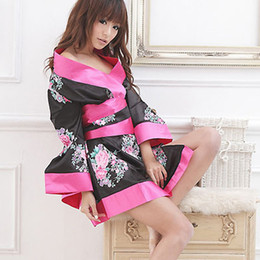 Wholesale Hot Japanese Kimono Sexy Women s Lingerie Sleepwear Nightgown Nylon Spandex CL64