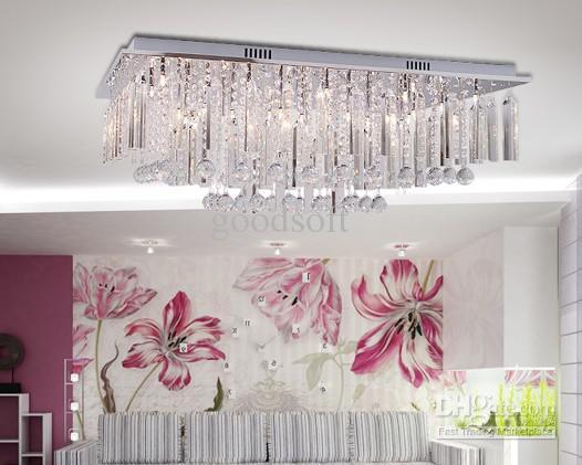 Modern Luxury K9 Crystal Ceiling Lamp Crystal Chandelier Lights – Bedroom Crystal Chandelier