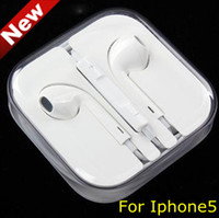 Wholesale In Stock Earphone for Iphone Earbuds Headphone with MIC and Volume Control for iphone5