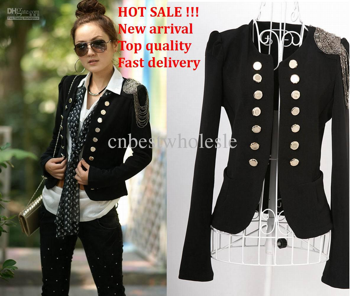Fashion Women Lady Suit New Korean Women Double Breasted Suit Slim ...
