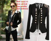 ladies suits - Fashion Women lady suit New Korean women Double breasted Suit slim jacket coat black jackets