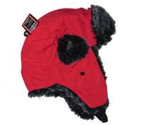 Wholesale Faux Fur Hat SKI beanie hat cap ear warmerWinter Hat Earflap Russian Trooper TRAPPER