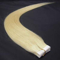 Wholesale 16 quot tape skin human hair extensions lightest blonde g set