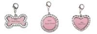 Wholesale crystal rhinestone DIY mini photo frame rhinestone pet ID tag rhinestone photo frame necklace pendant