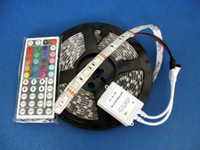 Wholesale 5M LED Striplight Flexible LED Strip SMD RGB Waterproof Key IR Remote Controller