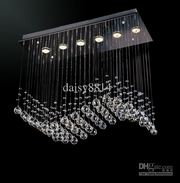 Promotion Sales Most Popular Style Curtain Wave 6 Lights
