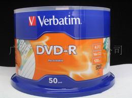 Wholesale New Verbatim X DVD Media DVD R Blank Discs Printable Record G Min One Roll