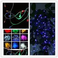 Wholesale Bule Red RGB Yellow Purple Color M LED String Lights Flash Light Christmas Twinkle light