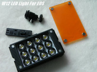 Wholesale NEW WanSen W12 LED Light For EOS NIKON SONY Lighting Vide alternative DHl