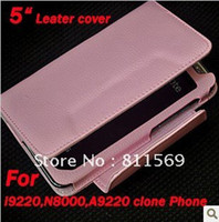 Leather For LG Yes Free shipping Mobile phone leather case for 5inch note phone i9220,N8000,N9000,A9220,A9230