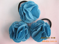 Wholesale Korean hot models multi dimensional charming roses hair band hair rope the Bird s Nest ha
