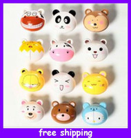 suction hook - 24 pieces Cute Cartoon Toothbrush Holders Suction Brush Holders Stand Hook Rack Bathroom Tool