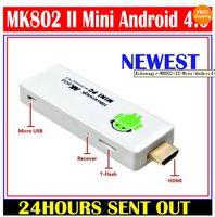 Wholesale Cheap MK802 II Google Android TV Box Allwinner A10 GB DDR3 GB Mini PC HDD Player Black amp White