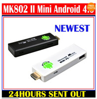 HDD Player Android 4.0 MPEG/MPG/DAT MK802 II Mini PC Smart USB TV BOX Google TV Youtube A10 RAM 1GB 4GB Android 4.0 Dongle 5pcs lot