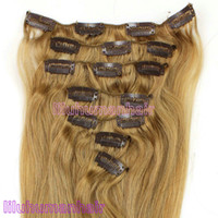 Chinese Hair ash wedding - 20inch g Brazilian Remy Clip In Human Hair Extensions Color Ash Blonde Wedding Gift
