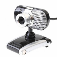 Wholesale USB M LED PC Camera HD Webcam Camera Web Cam MIC CD for Computer PC Laptop