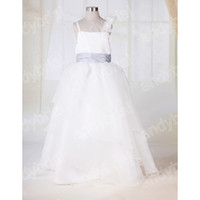 Actual Images Ankle-Length Organza Hot Selling Cheap Flopwer Girl Dress Formal Party Gowns For Little Girls Princess Ball Gown For Girl