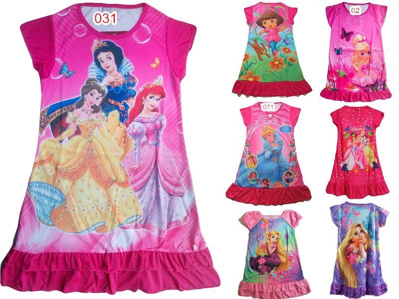 HOT Kid's Clothing Girls Dresses Short Sleeve Dresses Casual DM02 ...