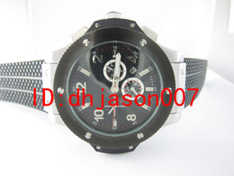Wholesale luxury dress big bang automatic silver case black dial mens watch HB303 rubber band men watches