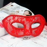 Wholesale hand made half face plain red black amp white Masquerade ball masks Party masks Lace masks