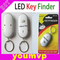 Wholesale 100pcs LED Key Finder Locator Find Lost Keys Chain Keychain Whistle Sound Control