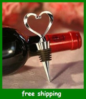 Bottle Stoppers champagne stopper - 1pcs Hot Elegant Heart shaped Champagne plug Wine Bottle Stopper christmas wedding gifts