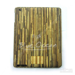 Wholesale New Wood Shaped Veneer Gluing Case Skin Work With Smart Cover For iPad
