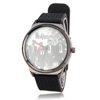 Wholesale Big Cool The Beatles Soft Silicone Watchband Quartz Movement Wrist Watch