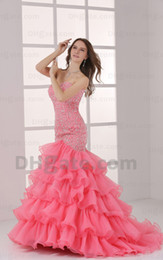 Wholesale 2013 New Style Exquisite Mermaid Sweetheart Shiny Beaded Rhinestone Organza Sequin Prom Dresses Gown