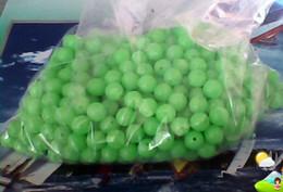 fishing glow round hard beads 8mm diameter