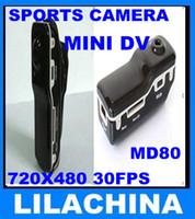 Wholesale 10pcs Mini DV DVR Sports Video Camera MD80 Hot Selling Mini DVR Camera amp Mini DV High quality