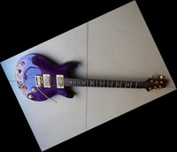 Wholesale New Arrival SANTANA LTD Private Stock Model electric Guitar Fret In purple tiger A0110