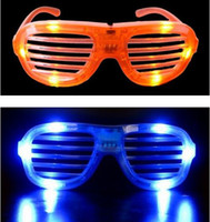 Wholesale Ne Fashion LED Sparkle Shutter Mask Glasses Sunglasses Party Favor LED Flashing