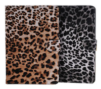 For Ipad Mini book flip - Leopard Flip Wallet Book Leather Case Cover With Stand for Apple New iPad Mini