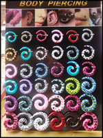 Wholesale Mix UV Acrylic Spiral Taper Ear Expander Stretcher Plug Ear Plugs Body Piercing with display